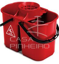 FOX- 8+6 LT DOUBLE BUCKET WITH SQUEEZER-RED COLOUR