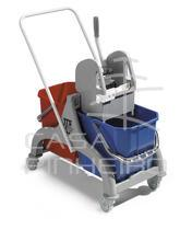 NICK - 50 L TROLLEY-GREY COLOUR W/VARNISHED HANDLE